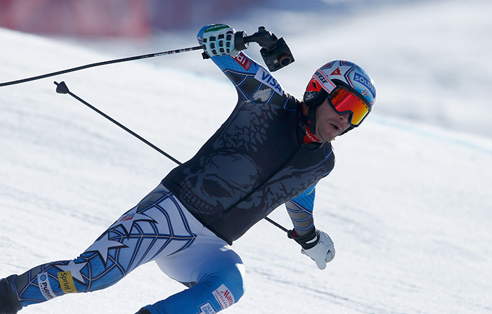 BEAVER CREEK, CO - DECEMBER 02:  Bode Miller of the United States skis the course with a 3D point of view camera prior to downhill training for the Audi FIS Ski World Cup on the Birds of Prey on December 2, 2015 in Beaver Creek, Colorado.  (Photo by Ezra Shaw/Getty Images)