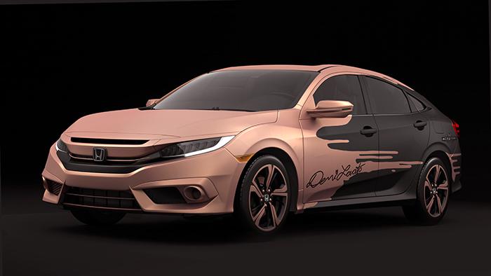 2016 Honda Civic Sedan designed and autographed by Demi Lovato